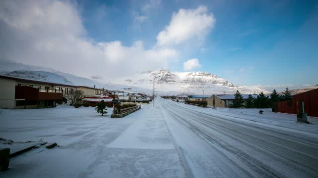 4K Time-lapse: Mountain Snaefellsnes Peninsula, Grundarfjordur city Iceland video
