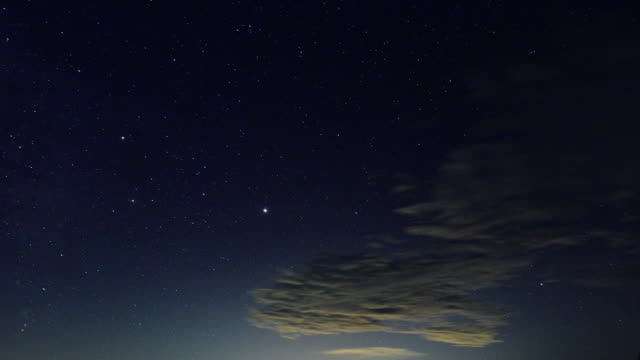 4K Time-lapse: Moving stars at the night sky video