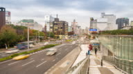 Time-lapse: Nagoya cityscape and Pedestrians at Sakae Chubu Japan video