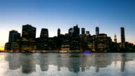 HD Time-lapse: New York City Cityscape from brooklyn video