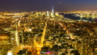 HD Time-lapse: New York City Skyline aerial view video