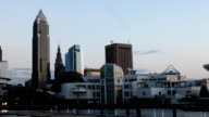 Timelapse Night Falls in Cleveland, Ohio video