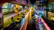 HD Timelapse : Night Traffic in Bangkok, Thailand video