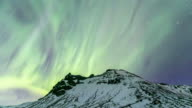 4K Time-lapse: Northern Light Aurora Borealis at VIK Southern Iceland video