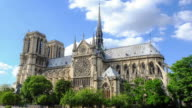 HD Timelapse: Notre Dame Cathedral at dusk in Paris, France video