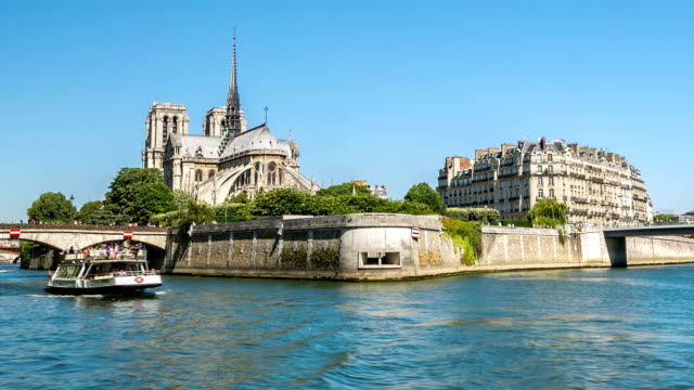 HD Timelapse: Notre Dame Cathedral in Paris, France video