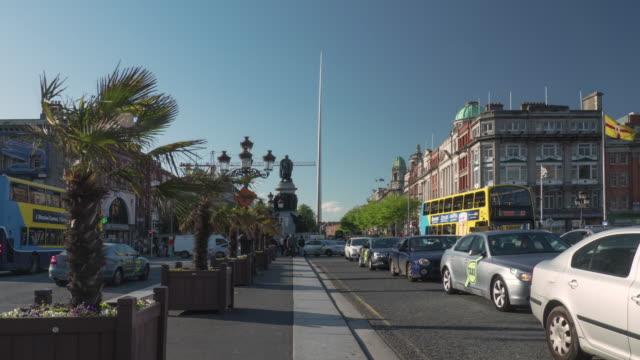 Timelapse O'connel bridge Dublin Ireland video