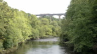 Timelapse Of A Barge Traveling Over The Pontcysyllte Aqueduct video