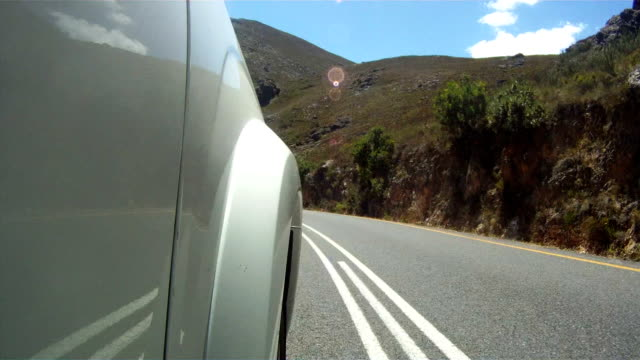 Timelapse of a car driving the roads around Franschoek video