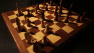 Time-lapse of a chess board and a chess game in progress video