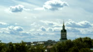 A timelapse of a chuch in a town in Russia video