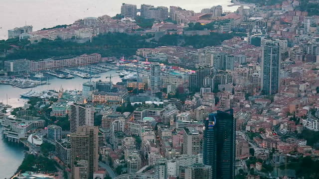 Timelapse Of Aerial View Of Monaco Cityscape video