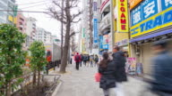 4K Time-lapse of Akihabara district in Tokyo, Japan. Akihabara is famous as a major shopping center for electronic goods and anime and manga. video