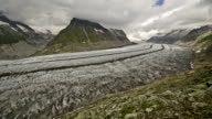 Time-lapse of Aletsch Glacier in the Swiss Alps. video