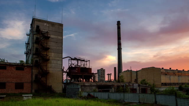 timelapse of an abandoned fertilizer factory video