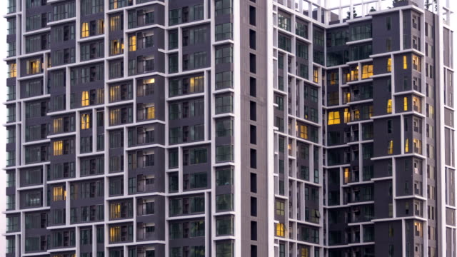 Timelapse of Apartment Building video