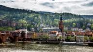 Timelapse of beautiful riverside of Heidelberg city video