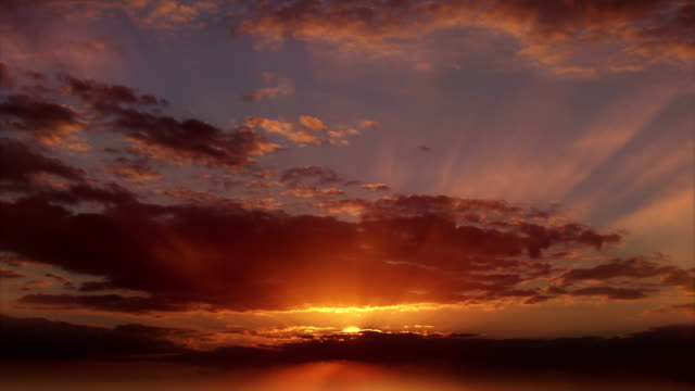Time-lapse of beautiful sunset video