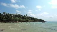 Timelapse of beautiful tropical beach in Koh Kood island video
