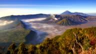Timelapse Of Bromo volcano at sunrise, East Java, Indonesia video