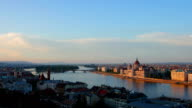 Timelapse of Budapest while sunset video