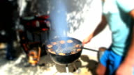 BBQ Timelapse of Burgers and Meat being grilled video