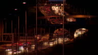 Timelapse of busy motorway at night video