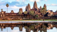 Timelapse of Cambodia landmark Angkor Wat video