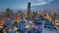 Time-lapse of Central Business District Thailand, Cityscape , bangkok landmark video