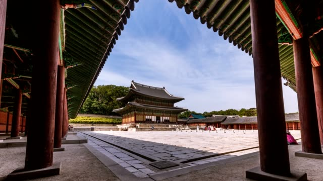 4K timelapse of  Changdeokgung, Seoul, South Korea video