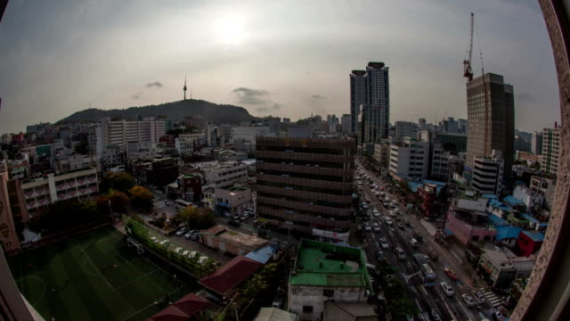 Timelapse of city life in Seoul, South Korea video