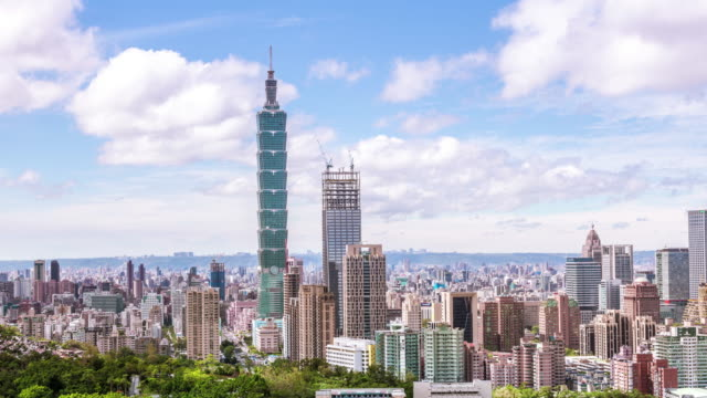 4K Timelapse of city of Taipei at dawn,Taiwan video