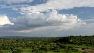 Time-lapse of clouds at Serengeti in Tanzania. video