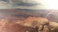 Time-lapse of clouds flying over Grand Canyon in summer, Arizona, USA video