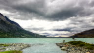 HD: Time-Lapse of Clouds Forming Over the Lake Nordenskjord, Chile video