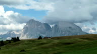 Timelapse of cloudy day at Langkofel and Plattkofel (Seiser Alm) video