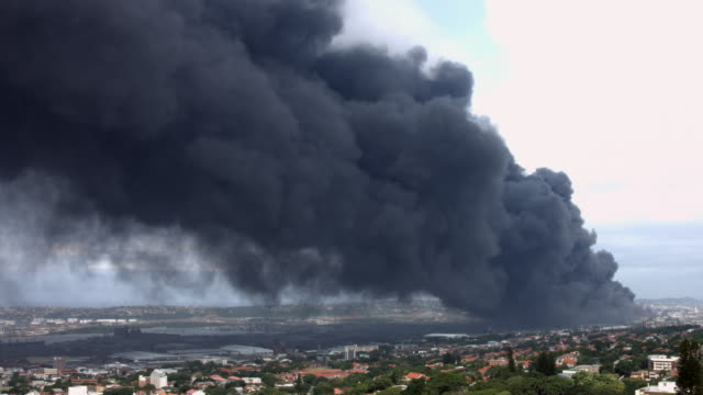 Time-lapse of dark toxic fumes polluting the atmosphere. video
