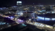 Time-lapse of downtown, Nashville, TN video