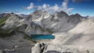 timelapse of dramatic sky in the alps, tirol, austria video