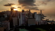Timelapse of evening coming to Hong Kong video