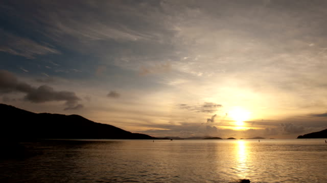 time-lapse of Francis Bay Beach, St.John, USVI during sunset video