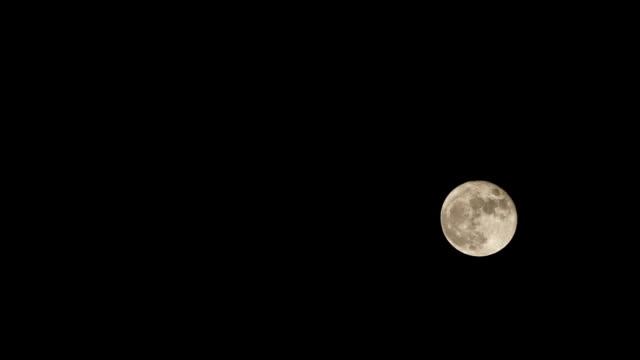Timelapse of Full Moon video
