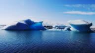 HD 1080 timelapse of glacier lake Jokulsarlon. South Iceland video