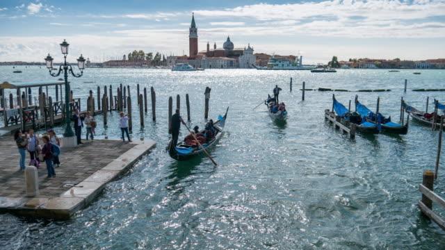 Time-lapse of Gondola in Venice , Veneto region , Italy video