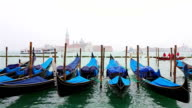Timelapse of Gondolas on Canal Grande in Venice , Italy video