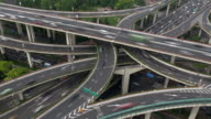 Timelapse of Heavy traffic on Shanghai Highway Interchange, China video