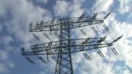 Timelapse of high-voltage line. video