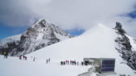 CNEUCIT1148 Time-lapse of Hiking in Aletsch Glacier in the Switzerland video