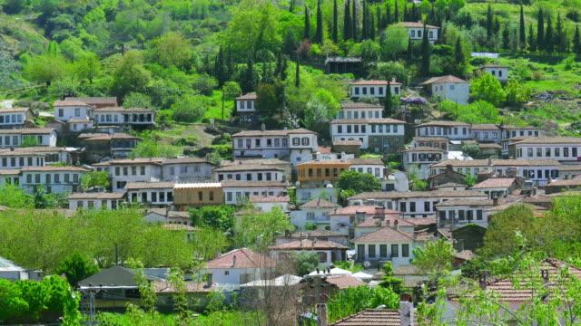 Timelapse of Historical White Houses, Sirince Village, izmir, Turkey video