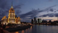 Timelapse of Hotel Ukraine in Russia, Moscow video